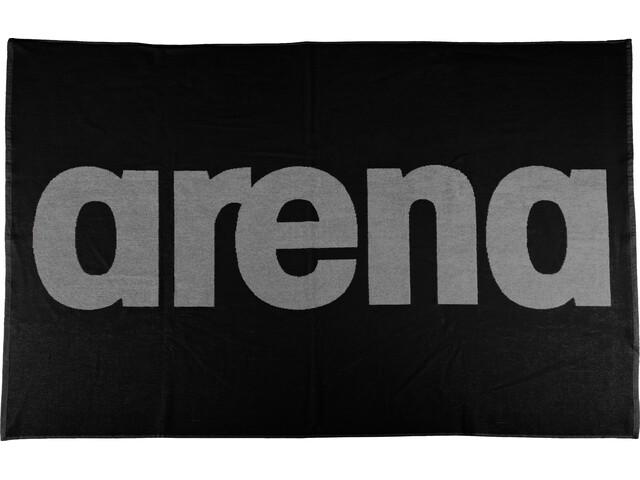 arena Handy - Serviette de bain - gris/noir